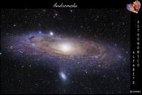 La Galassia di Andromeda (M31 del catalogo Messier) è una galassia spirale gigante ed la galassia di grande dimensione più vicina a noi: dista 2,5 milioni di anni luce dalla Terra e si trova in direzione della costellazione di Andromeda, da cui prende il nome. (Credits: foto di Hubble, modificata da Adam Evans https://www.flickr.com/photos/8269775@N05) #ERN #ERNRM3
